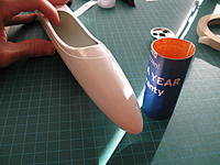 Name: 4E04D84D-373B-4036-8EF1-974C9EE0F91A.jpeg Views: 41 Size: 286.5 KB Description: The untrimmed nose. The cardboard cylinder is used to mark the cut line...