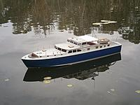 The 'Dauntless' commuter yacht.