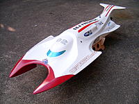 Name: Sea Predator 003.jpg Views: 135 Size: 309.3 KB Description: Sea Predator. Back from repairs at the 'Wet Track Racing' boat shed. Now running a 9XL motor, HiModel GX 200A ESC, 4s lipo, X440/3 prop. Sold