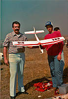 Name: papa y yo zephyr.jpg Views: 107 Size: 97.1 KB Description: This is My dad and Myself, when I was 16 years old; He made this Zephyr from Kit, the letters on the plane are the names of his Kids ( Ricardo (Me) Maria Rosa, and Adriana, my sisters. The Picture was taken, in the grounds near a local University in Guad,