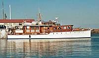 Name: Shorleave-2.jpg Views: 885 Size: 40.7 KB Description: Originally called the Nedeva, then the ShoreLeave, built in 1930, she's 77 ft long.