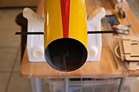 Name: IMG_0048.jpg Views: 417 Size: 86.8 KB Description: Spars sticking out of fuse in installed location...