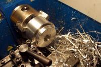 Name: end cap lathe work.jpg Views: 479 Size: 109.2 KB Description: end cap on the lathe