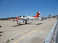Name: T28SoCal_1487.jpg Views: 109 Size: 61.6 KB Description: Actual T-28 with canopy bubbles open.