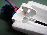 Name: 13.jpg Views: 901 Size: 46.0 KB Description: Forward mount, showing motor, motorshaft adapter and carbon shaft.