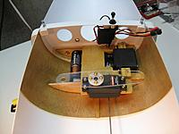 """Name: Mini Soling 058 (800x600).jpg Views: 172 Size: 233.9 KB Description: Winch arm made. Push for """"on"""" switch in place."""
