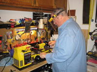 Name: Rick playing in the shop.jpg