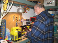 Name: Rick H playing with Lathe.jpg