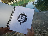 Name: Tims art work for Lion Heart.jpg