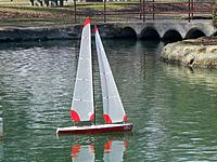 Name: New sails on 180.jpg Views: 42 Size: 260.5 KB Description: New sails on 180