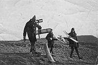 Name: 6.jpg Views: 114 Size: 49.4 KB Description: Dad, Min & Me arriving at the slope. 1968?