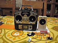 Name: tinytx3.jpg Views: 301 Size: 77.1 KB Description: Small 2ch full-range transmitter for gliders. Frsky RF, homebrew encoder, 2S 500mah lipo.
