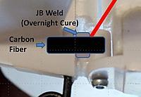 Name: Repari broken rudder JBweld and CF.jpg Views: 363 Size: 22.3 KB Description: Here is how I would repair the broken rudder pivot