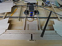 """35"""" 6S D Dust under construction. Installing cleat blocks with 26 degree angled side for the angled rudder fins."""