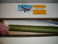 """Name: P1010023.jpg Views: 255 Size: 59.0 KB Description: wing 40"""" length 31 """" w/area 285 sq in weight( airframe) 5.6 oz  scale .75"""" = 12"""" Power electric rc 5.9:1 geared motors 8/4.7 counter rotating props 7 ce;; 280 mah Rubber: 2 loops3/16 FAI Tan II by 20"""" long each nacelle 9.5&q"""