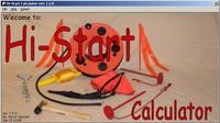 """Name: Hi-Start Calculator-splash.jpg Views: 266 Size: 58.3 KB Description: """"Hi-Start Calculator"""" ver: 1.2.0 Now with the ability to calculate based on ID (inside dia) and Wall thickness - splash-screen"""
