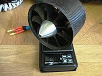 Name: JF 90mm with HET 650-58 2100kv 341g.JPG Views: 42 Size: 2.86 MB Description: Complete JetFan 90mm / HET motor - 341g
