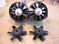 Name: DSCN1512.jpg Views: 76 Size: 207.6 KB Description: New EVO rotors installed in Rafale twin 90mm fans
