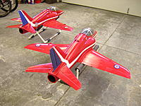 "Name: DSCN2532.JPG Views: 9 Size: 391.6 KB Description: BAe Hawks finishes with silkspan & polyurethane (""Parkettlack"")."