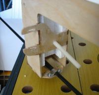 Name: Rear det.jpg Views: 275 Size: 53.3 KB Description: Fig 7 - Detail of rear camera tray mount & tilt servo rails