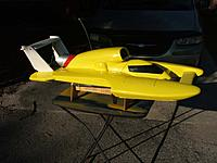 """Name: L1.jpg Views: 56 Size: 95.3 KB Description: This is a big hull. 48"""" from sponson tip to rear of wing"""
