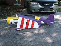 "Name: Yak1.jpg Views: 51 Size: 150.1 KB Description: Large model. 66"" from prop nut to rear of rudder"
