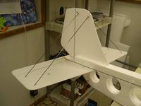 Name: 29.jpg Views: 901 Size: 49.4 KB Description: The tail feathers are cut from 3MM Depron in place of the 6MM. I did add 2 more carbon rods for rigidity.