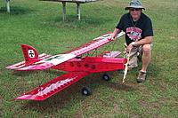 """Name: P0004187.JPG Views: 9 Size: 234.2 KB Description: Das Box Fly Bipe - 90"""" span - OS 40cc four stroke powered - From OK Models plans from Japan circa '70's"""