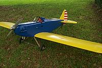 """Name: P0004612.JPG Views: 5 Size: 211.5 KB Description: Fly Baby - 94"""" span - powered by a weed conversion - just finished... not yet maidened"""