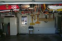 Name: P0003782.JPG Views: 72 Size: 159.1 KB Description: The hanger is almost full - there are twenty planes hanging in the garage and we park both my wife's car and my truck inside.