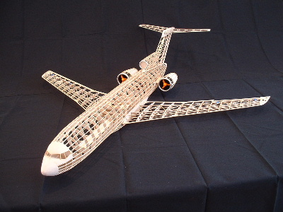 A Aa on Boeing 727 Model Airplane