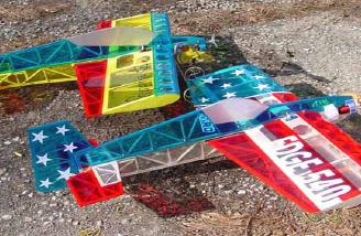 Note the differences in shape of the fuselage, Rudder...