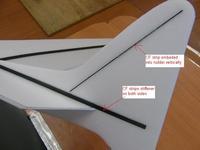Name: 17 Rudder CF.jpg Views: 2332 Size: 33.3 KB Description: Details of the CF strips rudder re-inforcement and stiffeners.