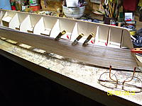 Name: Cutty Sark RC 001.jpg Views: 108 Size: 269.0 KB Description: Clamps where they will fit and pins where there's no room for the clamps. Slow work but it's coming out ok.