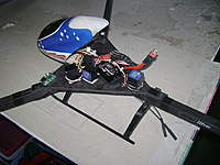 Name: misc 341.jpg Views: 240 Size: 68.4 KB Description: A larger frame with a 450 canopy and the gyro layout inside.