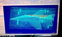 Name: IMAG0430.jpg Views: 258 Size: 302.3 KB Description: Tool path optimized for foam.  One inch depth on riff cut.