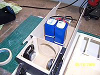 Name: 101_5106.jpg Views: 128 Size: 215.4 KB Description: I fabricated a combination speaker box & motor mount. I originally thought of mounting the batteries about there too.