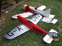 Name: Mock Up with Hawk004.jpg Views: 203 Size: 309.1 KB Description: My biggest model until the Gee Bee turned up was this e converted 71 inch Miles Sparrowhawk