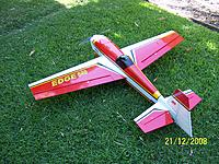 Name: Edgebuild002.jpg Views: 141 Size: 322.9 KB Description: Seagull Edge 540 64 inch e-conversion.  Heaps of power with Hyperion Zs4035 on 8 cells.  This is my second one since the first only lasted about 35 seconds on its maiden flight due to reversed ailerons and very rearward cg.