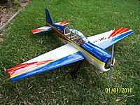 Name: 01012010001.jpg Views: 120 Size: 322.8 KB Description: Yak 54 120 sized 10 cell conversion that I haven't really bonded with.  Maybe it just needs more power.....