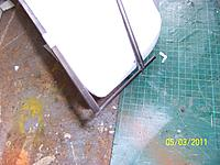 Name: 100_5318.jpg Views: 73 Size: 219.7 KB Description: Couldn't show it installed as it all gets hidden in the foam and drowned in hot glue! Essentially the two spars are slotted and a short length of 3mm rod is glued in to stiffen it all up.