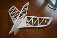 """Name: IMG_1807.jpg Views: 158 Size: 174.4 KB Description: Fin carved and sanded to section, this shot shows tailplane at full """"up"""" deflection"""