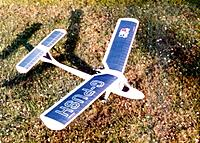 Name: FF1.jpg Views: 115 Size: 117.2 KB Description: Vic Smeed Pushy Cat from 1987 with Irvine Mills 0.75.  Subsequently converted to rudder only R/C with single proportional micro servo.