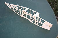 Name: 20120729_IMG_1105.jpg Views: 119 Size: 148.4 KB Description: Basic fuselage joined with two built up formers and F1 motor mount set back from nose