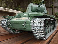 Name: KV-1 008.jpg Views: 656 Size: 88.9 KB Description: Heng Long KV-1 with metal tracks & gearbox