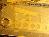Name: DSC05153.jpg Views: 120 Size: 211.6 KB Description: I taped wax paper over the first side so I could build right on top of it.  That way I could be sure both sides where exactly the same.