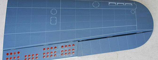 Top right outer wing panel.