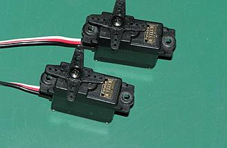 Two Futaba S3115 servos were supplied and make a perfect match for the Vista BL.