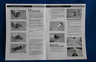 Many photos in manual to assist in assembling the Tiger Moth.