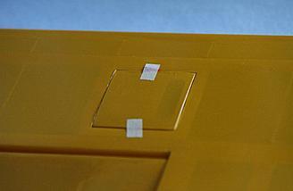 Aileron access on bottom wing.